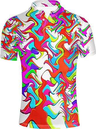 Hugs Idea Fashion Colorful Mens Pique Sport Shirst Summer Hipster Hip Hop Short Sleeve Breathable T-Shirt Tee Tops