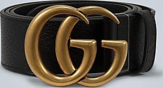 Gucci Ledergürtel mit Doppel-G-Schnalle