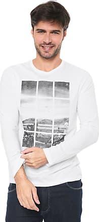 Malwee Camiseta Malwee Estampada Branca