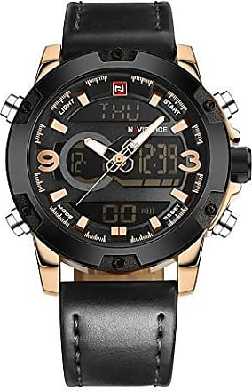 NAVIFORCE Relógio Masculino Dourado Digital Esportivo NAVIFORCE 9097