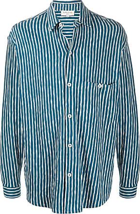 Ymc You Must Create Camisa com listras - Azul