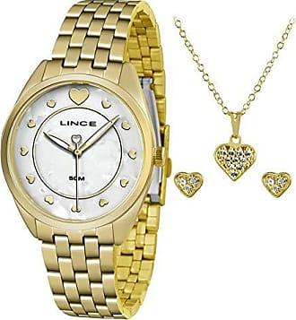 Lince Kit Relógio Lince Feminino Colar e Brincos Lrgh075lkv19b1kx