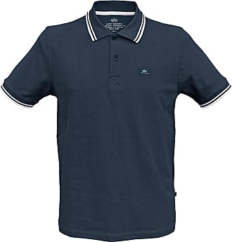 Alpha Industries Twin Stripe Polo II navy, Größe XXL