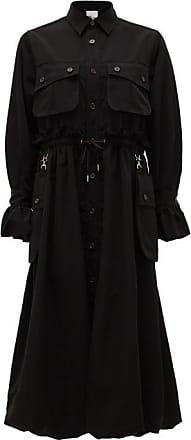 Comme Des Garçons Cargo-pocket Drawstring Shirt Dress - Womens - Black
