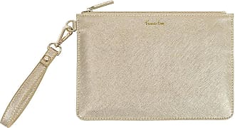 Katie Loxton Secret Message Pouch - Prosecco Time/Enjoy Today Sip Sip Hooray!, Metallic Champagne, One