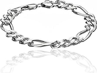 802c2b2f23c7 Amazon Collection Mens Sterling Silver Italian 9.70 mm Solid Figaro Link  Bracelet