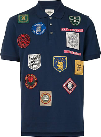 Kent & Curwen short sleeve embroidered patch polo shirt - Blue