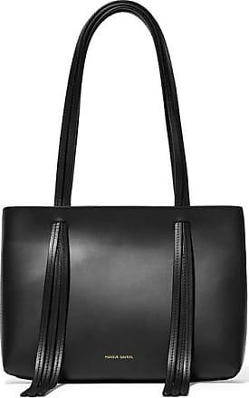 3109f3cdb Mansur Gavriel East West Mini Fringed Leather Tote - Black