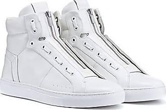 HUGO BOSS Hightop Sneakers aus Nappaleder mit Reißverschluss