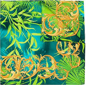 Versace Lenço com estampa barroca - Verde