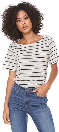 Vero Moda Camiseta Linho Vero Moda Recorte Manga Branca