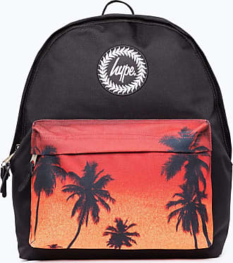 Hype Hype Palm Tree, Unisex Adults Backpack, Multicolour (Black/White), 30x41x15 cm (W x H L)