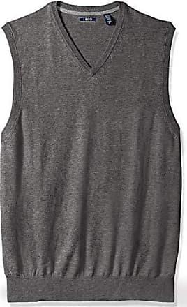 Izod Mens Big and Tall Premium Essentials Solid V-Neck 12 Gauge Sweater Vest, New Carbon Heather, 3X-Large