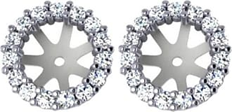 Pompeii3 72CT Diamond Earring Studs Halo Jackets 14 Kt Fit 1.25CT Diamonds (6.5-7MM)