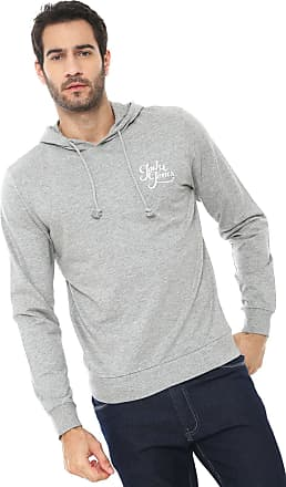 Jack & Jones Moletom Fechado Jack & Jones Logo Cinza