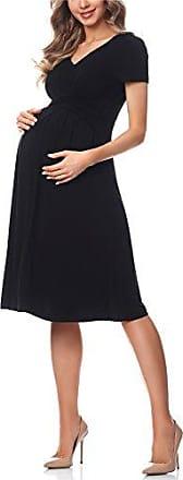 Be Mammy Damen Umstandskleid Kurze /Ärmel Maternity Schwangerschaftskleid BE20-172
