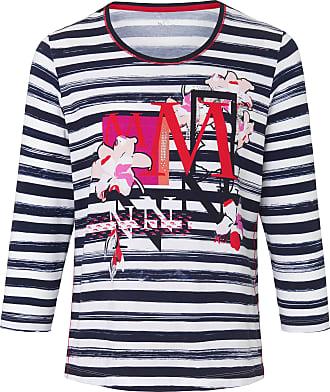 Rabe Damen Rundhalsshirt mit 3//4-/Ärmeln und Wellenstruktur
