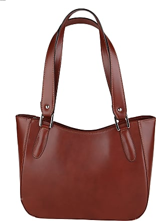 Chicca Borse Woman Shoulder Bag in Genuine Leather Made in Italy 34x23x10 Cm