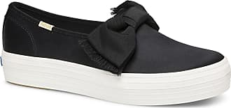 Keds x kate spade new york Triple Decker Satin Bow Black, Size 9.5m Womens Shoes