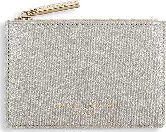 Katie Loxton Alexa Metallic Card Holder with Zip Champagne Shimmer