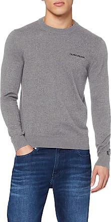 Calvin Klein Jeans Mens INSTIT Chest Logo CN Sweater Sweatshirt, Grey (Mid Grey Heather P2f), X-Large (Size:XL)