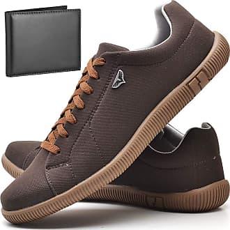 Juilli Sapatênis Sapato Casual Com Carteira Masculino JUILLI 920DB Tamanho:38;cor:Marrom;gênero:Masculino
