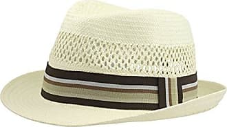 9854a84e64521 Henschel Mens Vented Toyo Straw Fedora with Striped Ribbon Band