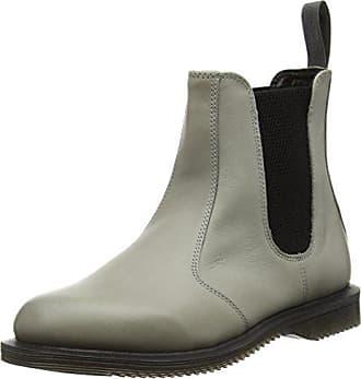 466bd46855744e Dr. Martens Damen FLORA Burnished Servo Lux GREY Chelsea Boots Grau)