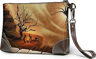 GLGFashion Womens Leather Wristlet Clutch Wallet Spider Web Storage Purse With Strap Zipper Pouch