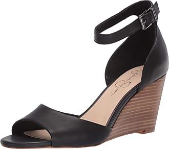 Jessica Simpson Womens Cervena Wedge Sandal, Black, 4.5 UK