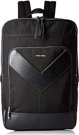 Diesel Mens Zipper Mr. V-Back Backpack, Black