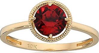 Amazon Collection 10k Gold Swarovski Crystal July Birthstone Ring, Size 7