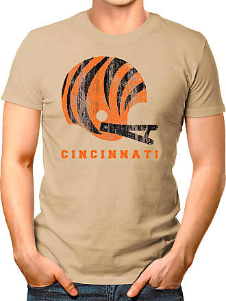 OM3 Cincinnati-Helmet - T-Shirt | Mens | American Football Shirt | XL, Khaki