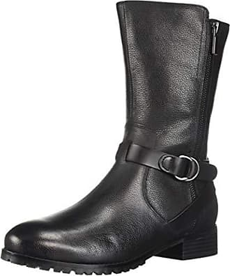 3bb9322c5239 Softwalk Womens Marlowe Motorcycle Boot Black 6.5 N US