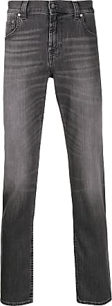 7 For All Mankind tapered stonewashed jeans - Cinza