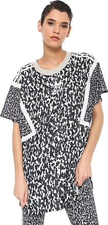 adidas Originals Camiseta adidas Originals Oversized Lf Bege/Preta