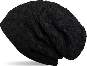 styleBREAKER Warming Braided Pattern fine Knit Slouch Beanie with an Ultra Soft Fleece Lining, Unisex 04024058, Colour:Black