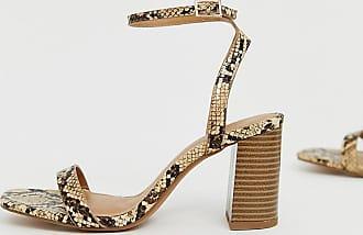 7a8726df533313 Asos Hong Kong - Sandales minimalistes pointure large à talons carrés et effet  serpent - Multi