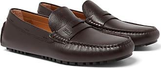 37bc171f159 HUGO BOSS Full-grain Leather Driving Shoes - Dark brown