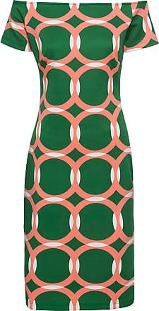 db63cdd743b0 BODYFLIRT boutique Dam Mönstrad klänning i grön utan ärm - BODYFLIRT  boutique