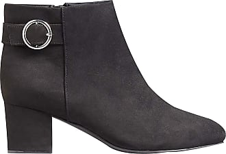 Yours Clothing Wide Fit Women/'s Black Buckled Ankle Boots In Extra Wide Fit