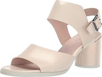 Ecco Womens Womens Shape 65 Block Strap Heeled Sandal, Vanilla Metallic Calf, 41 M EU (10-10.5 US)