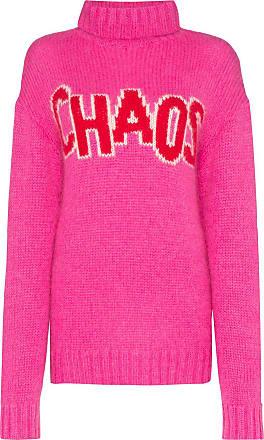 House Of Holland Vestido de tricô Chaos oversized - Rosa