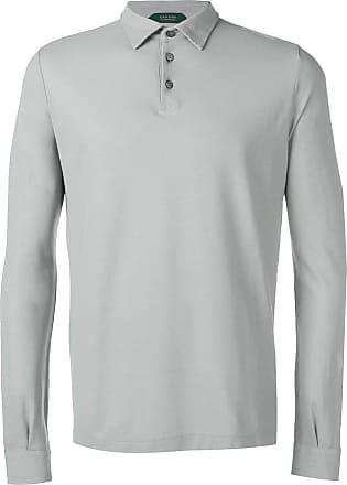 Zanone long sleeve polo shirt - Grey
