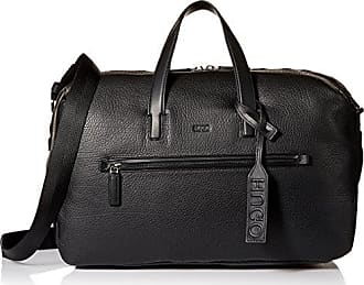 HUGO BOSS HUGO by Hugo Boss Mens Victorian Leather Weekender Bag, black, One Size