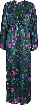Borgo De Nor Vestido kimono com decote profundo - Azul