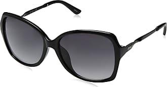 Jessica Simpson Womens J5716 Ox Non-Polarized Iridium Round Sunglasses, Black, 70 mm
