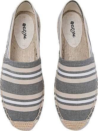 ICEGREY Womens Causal Loafer Flat Slip On Espadrille Green White Strips UK 3.5