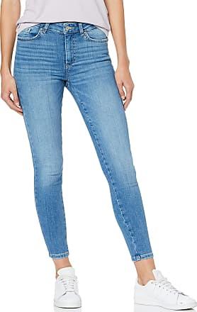 Pieces Womens Pcdelly Skn Mw Cr Lb124-ba/noos Skinny Jeans, Blue (Light Blue Denim Light Blue Denim), 14 / Large