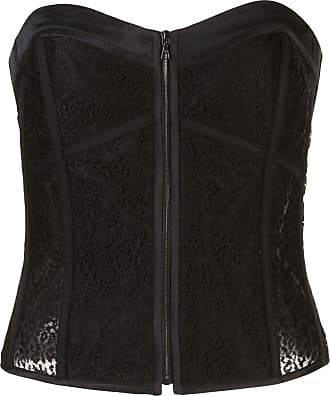 Kiki De Montparnasse grosgrain detail lace corset - Black